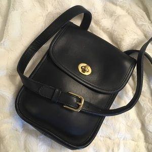 Coach Vintage Black Leather Scooter Bag 9978